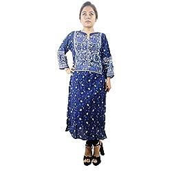 Shopmore Blue Printed Long Kurta