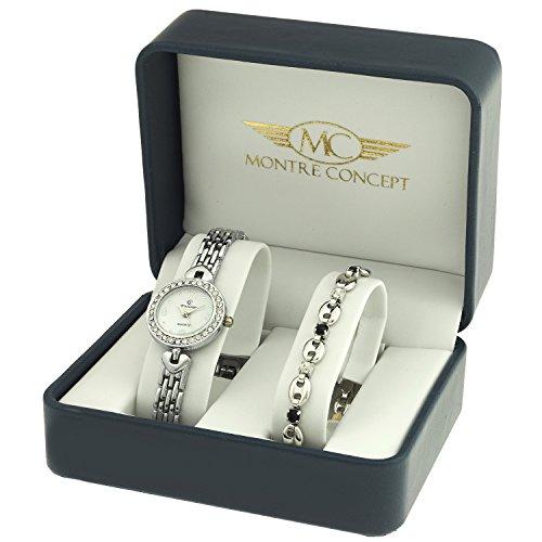 montre-concept-coffret-cadeau-montre-femme-avec-un-joli-bracelet-montre-analogique-bracelet-argent-c