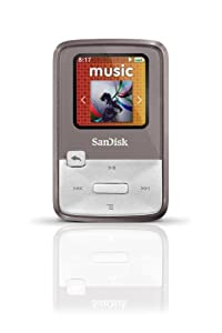 SanDisk Sansa Clip Zip 8GB MP3 Player, Grey With Full-Color Display, MicroSDHC Card Slot and Stopwatch- SDMX22-008G-A57G (Discontinued by Manufacturer)