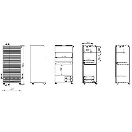 Simmob orga140tpb750Orga Armadio Mobile Computing con 2cassetti legno 53,2x 65,2x 139,9cm