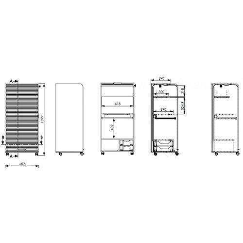 Simmob orga140tpb500Orga Armadio Mobile Computing con 2cassetti legno 53,2x 65,2x 139,9cm