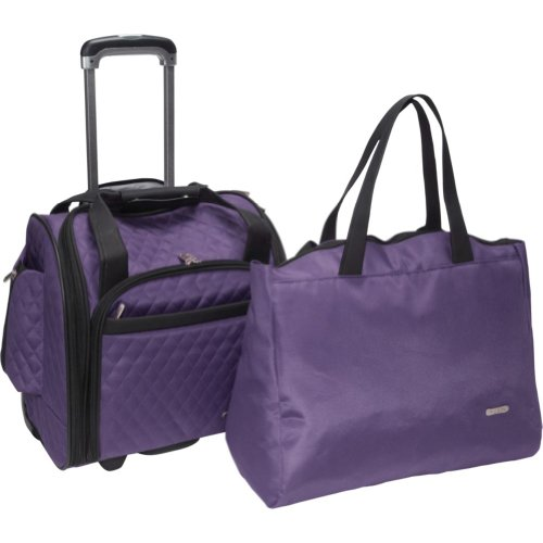 Travelon Underseat Carry On Microfiber Eggplant