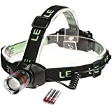 LE® Dimmable Adjustable Focus CREE LED Headlamp, Super Bright, 3 Brightness Level Choices, LED Headlamps