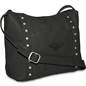 NBA Atlanta Hawks Black Leather Ladies Mini Top Zip Handbag by Pangea Brands