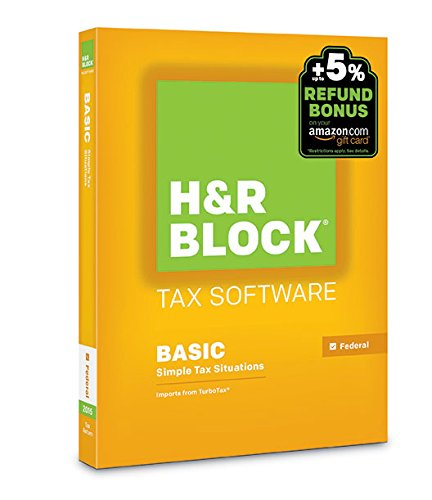 H&R Block 2015 Basic Tax Software +  Refund Bonus Offer  – PC/Mac Disc