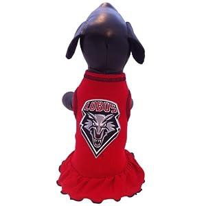 NCAA New Mexico Lobos Cheerleader Dog Dress, Small by All Star Dogs