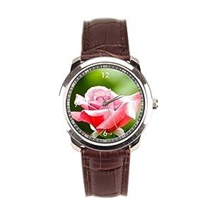 sanYout Cheap Wrist Watch Close Shot Distressed Leather Watch Strap Jamfoto Mens Watch Leather Band Garden