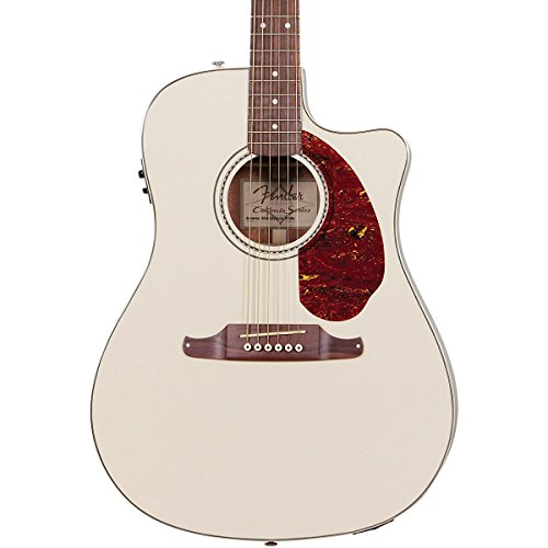 Fender Sonoran Sce Dreadnought Cutaway Acoustic-Electric Guitar, Solid Spruce Top, Fishman Preamp - Olympic White