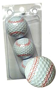 Buy GBM Golf Sport Novelty 3 Ball Sleeve, Baseball by GBM Golf