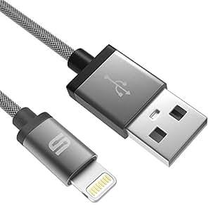 [Certificato Apple MFI] Cavo di Nylon intrecciato Syncwire da Lightning a USB - Garanzia a Vita - per Apple iPhone 6 Plus 6S 5S 5C 5, iPad Air 2 Mini 3, iPod Touch Nano - 3.3 ft/1m Grigio spazio
