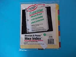 Boorum Pease Max Index 31481 Extra Wide Indexing Systems8 Tab Color 3 Hole Punched