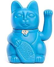 Gatete. El clásico Gato de la Suerte o la Fortuna o Maneki-Neko en divertidos colores. AZUL PITUFO: