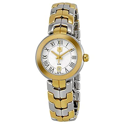 Tag Heuer Link Silver Guilloche Dial 18k Yellow Gold and Stainless Steel Ladie
