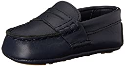 Ralph Lauren Layette Telly Loafer (Infant/Infant), Navy, 0 M US Infant