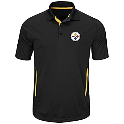 Pittsburgh Steelers Mens Black Field Classic II Synthetic Polo Shirt
