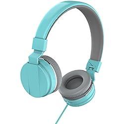Marvotek On Ear Headphones for Girls Stereo Headphones Wired Headphones with Mic Foldable Headphones Lightweight Headphones for Kids