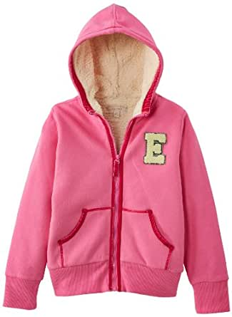 Esprit - sweat-shirt  capuche - fille - Rose Fonc - FR : 7 ans (Taille Fabricant : 116/122)
