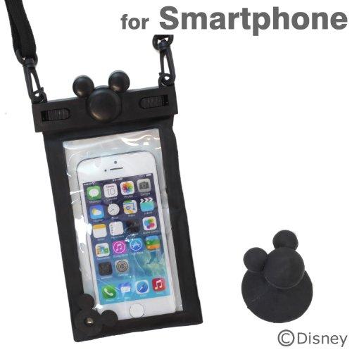 ディズニー 防水ケース 各種 スマートフォン 対応 キャラクター スマホ カバー iPhone / iPhone5 / iPhone5s / iPhone5c / iPod / Disney Mobile / Xperia Z1f / Xperia A / Galaxy S4 / ブラック