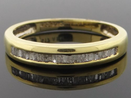 Classic Men's Wedding Band Ring 10k Yellow Gold with 0.45ct Diamonds YG-WB-R196-JGK