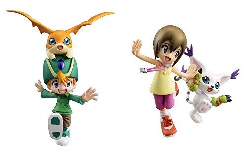 Megahouse G.E.M Digimon Adventure:Yagami Hikari & Tailmon and Takeru Takaishi & Patamon PVC Figure Set