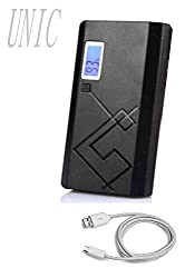 UNIC Portable Charger 15000 mAh Dual USB Power Bank with display UN15K4- Black