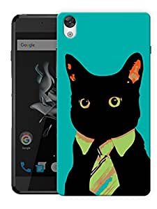 """Humor Gang Hipster Cat - Green Printed Designer Mobile Back Cover For """"OnePlus X"""" By Humor Gang (3D, Matte Finish, Premium Quality, Protective Snap On Slim Hard Phone Case, Multi Color)"""