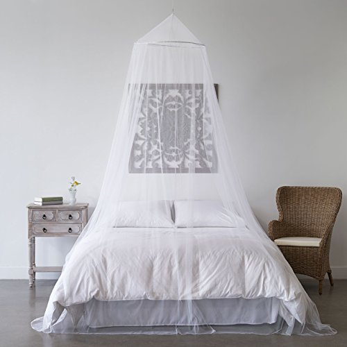 Mosquito net bed canopy bug screen repellant conical for Canopy over bed