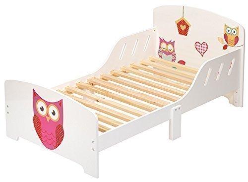 4Uniq-Kinderbett-Eule-weiss-lackiert-Bettgestell-Spielbett-Holzbett-Bett