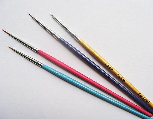 1 Pinsel - für Nail Art Malerei - für Acryl - für Gel - Größe 1 - CUTE NAILS