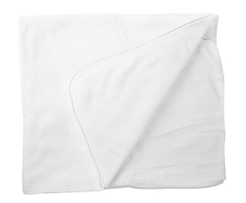 Ashopz Baby Soft Fleece Throw Blanket W/ Complimentary Ribbon Tie 30 X 40, White front-15749