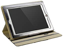 Cygnett Glam Glossy Finish Folio Stand Case for iPad 2 and iPad 3 - Silver