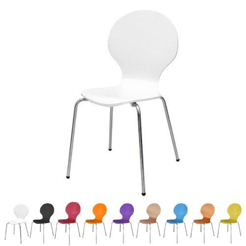 Stuhl-stapelbar-Design-Klassiker-Metall-Holz-sehr-belastbar-Weiss