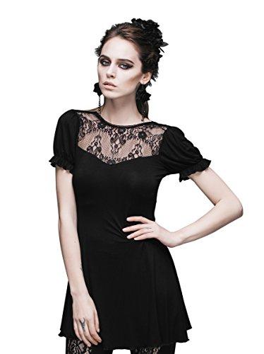 Steampunk Lace Blouse Gothic Punk Tops Renaissance Costume For Victorian Dress (L) (Punk Fancy Dress Ideas)