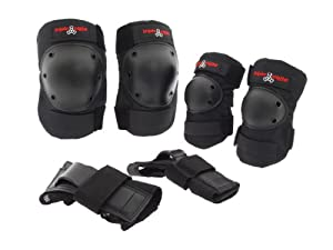 Triple 8 Saver Series Tri Pack Pads - Triple 8 Roller Derby Pads by Triple Eight