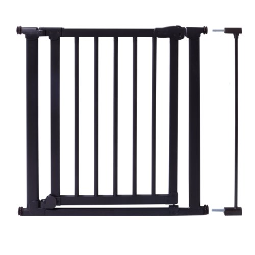 Evenflo Walk-Thru Wood and Metal Pressure Gate, Black