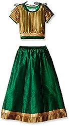 Atayant Girl Lehenga Choli (ATAYK_036_2:3YR_Gold:Green_S)