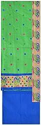 Princess Women's Chanderi Unstitched Dress Material (Green)