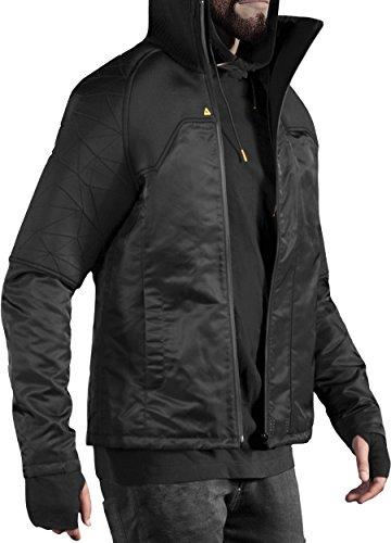 Musterbrand Deus Ex Giacca Uomo Rider Futuristic Design / Gaming Clothes Nero XXL