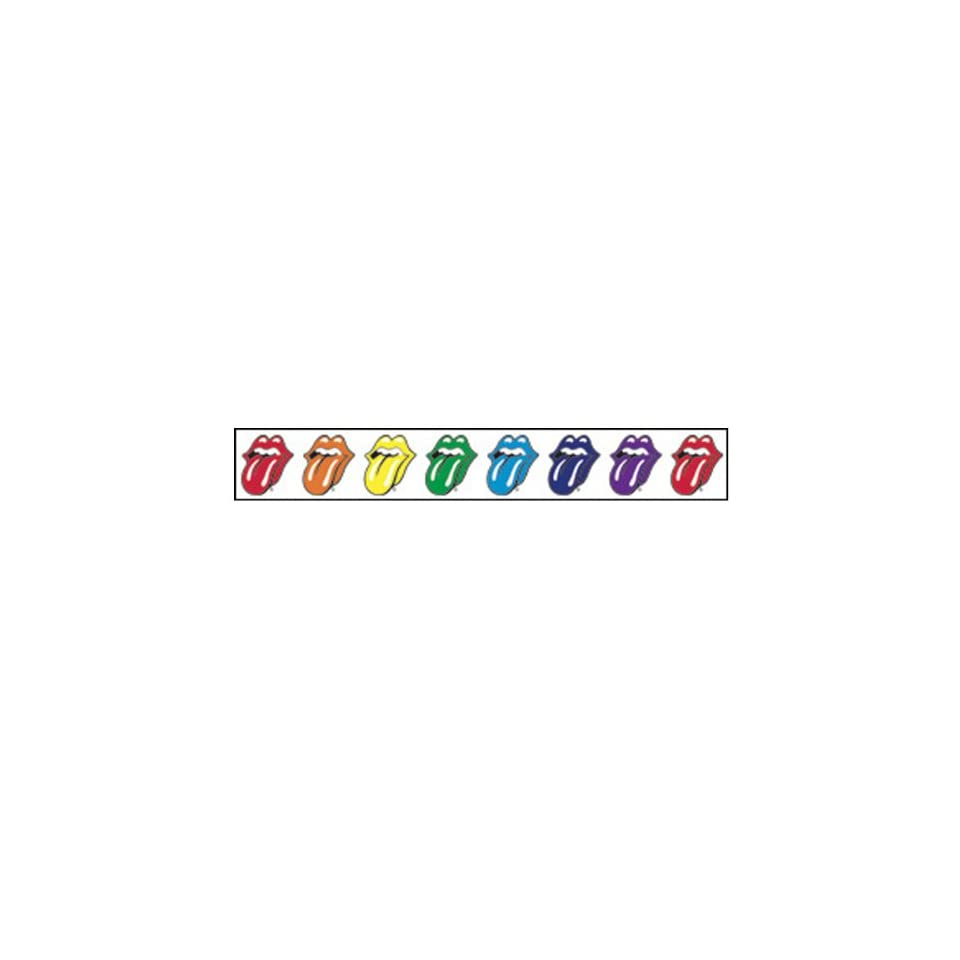 Rolling Stones   Tongue Strip Clear Sticker