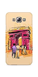Casenation Paris Colour Sketch Samsung Galaxy E7 Case