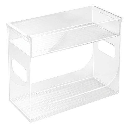 InterDesign 68530EU Boîte à Épices de Placard Plastique Transparent 25,75 x 11,75 x 21,75 cm