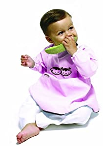 Baby to Love 101927 - Babero con mangas, color rosa - BebeHogar.com