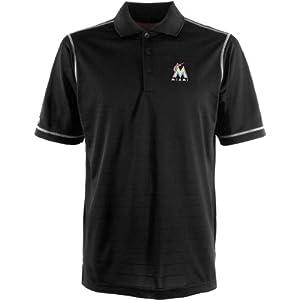 MLB Miami Marlins Mens Icon Desert Dry Xtra Lite Polo by Antigua