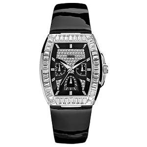 Guess W19001L1 - Reloj de caballero de cuarzo con correa de piel negra - sumergible a 30 metros
