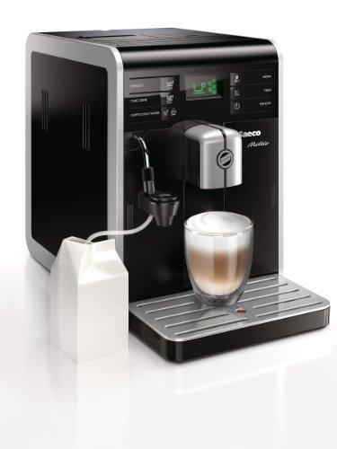 Saeco HD8768/01 Kaffee-Vollautomat Moltio (1.9 l, 15 bar, 1850 Watt, Memo-Funktion, austauschbarer Bohnenbehälter, Cappuccinatore) schwarz thumbnail