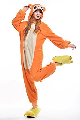 Yellow Monkey Cosplay Costumes Anime Onesie Adults Kigurumi Pajamas Sleepwear Hooded