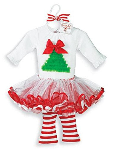 Select Size: Baby Girl Christmas Holiday Tutu Dress Set by Mud Pie (12-18 Months) (Mud Pie Girl 18 Months compare prices)
