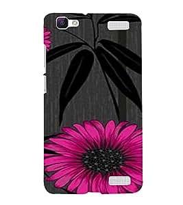 PrintVisa Flower And Leaves Design 3D Hard Polycarbonate Designer Back Case Cover for VivoV1MAX