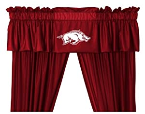 Arkansas Razorback Window Treatments Valance and Drapes by Sports Coverage