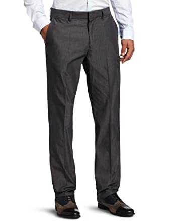 Kenneth Cole New York Men's End On End Pant, Black Combo, 32x30